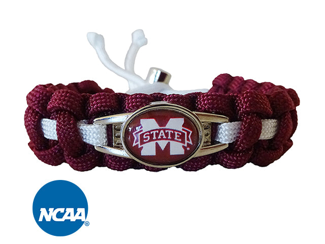 Officially Licensed Mississippi State Bulldogs Paracord Bracelet