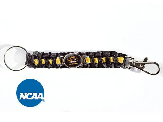 Officially Licensed Missouri Tigers Paracord Keychain
