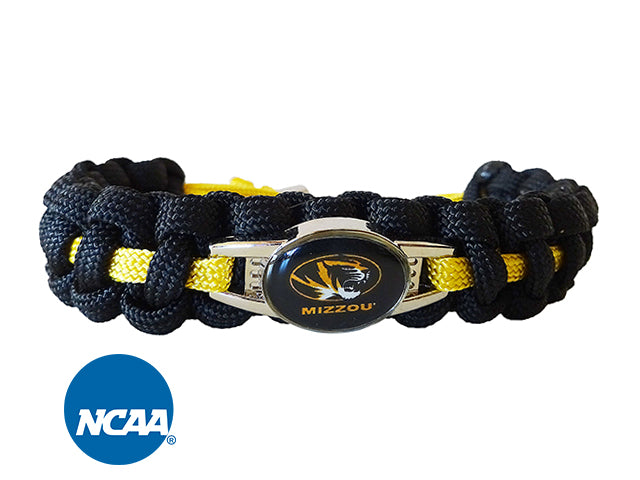 Officially Licensed Missouri Tigers Paracord Bracelet