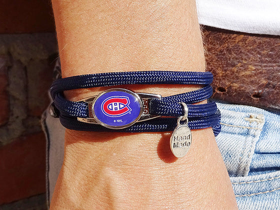 Montreal Canadiens Officially Licensed Designer Wrap Bracelet