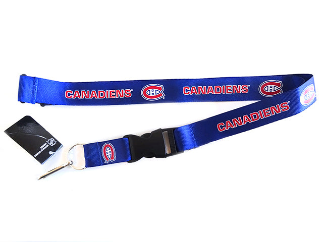 Officially Licensed NHL Montreal Canadiens Lanyard with Paracord Badge Reel Attachment
