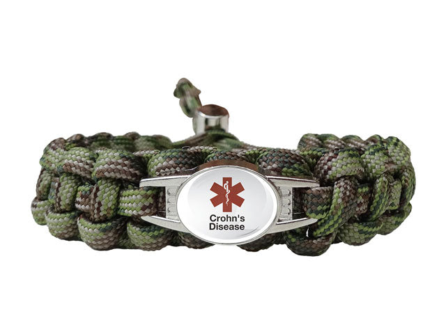 Medical ID Crohn's Disease Paracord Bracelet