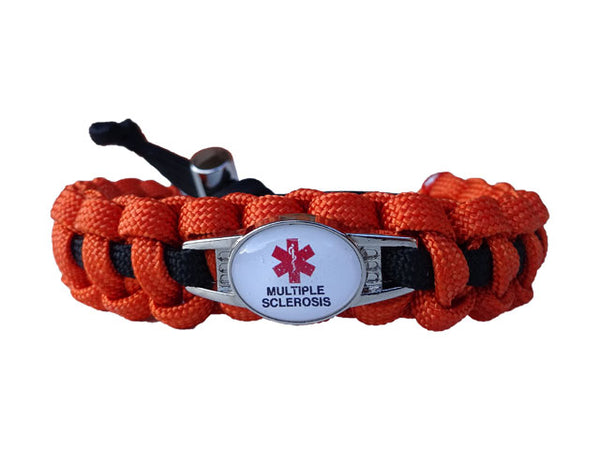 Medical Id Multiple Sclerosis Paracord Bracelet Handmade