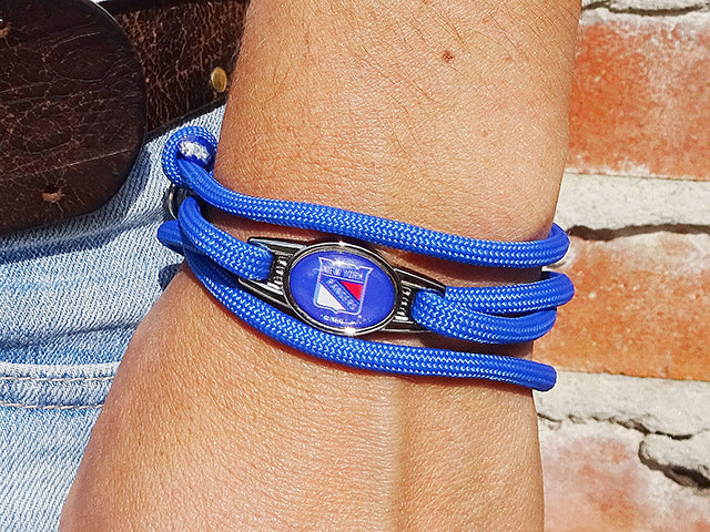 New York Rangers Officially Licensed Designer Wrap Bracelet