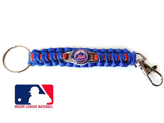 Offically Licensed MLB New York Mets Paracord Key Fob