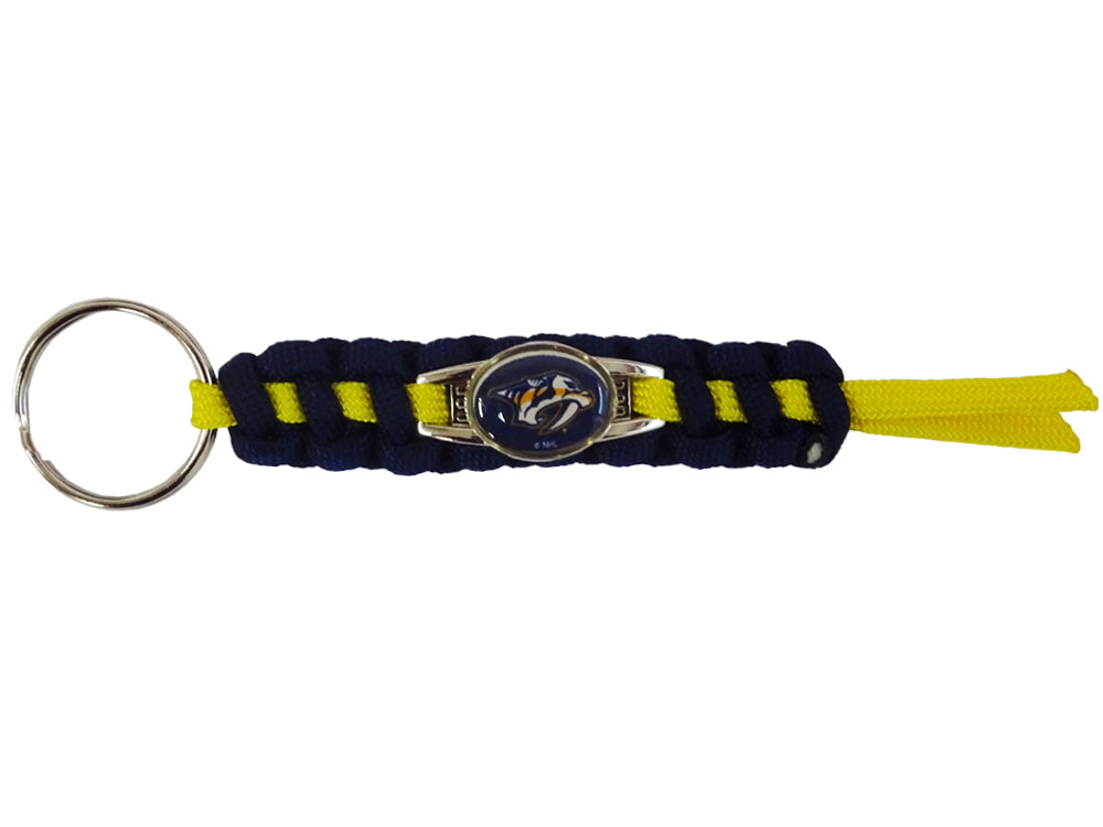 Officially Licensed Nashville Predators NHL Paracord Mini Keychain