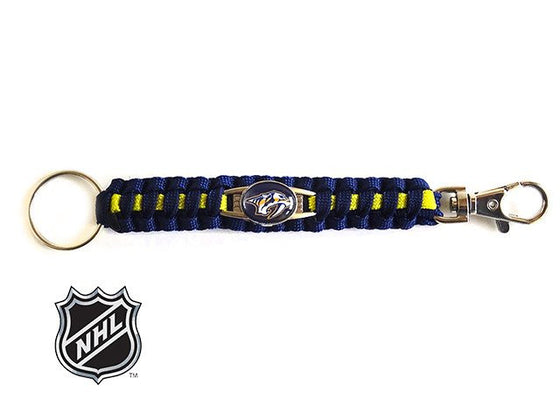Officially Licensed NHL Nashville Predators Paracord Keychain