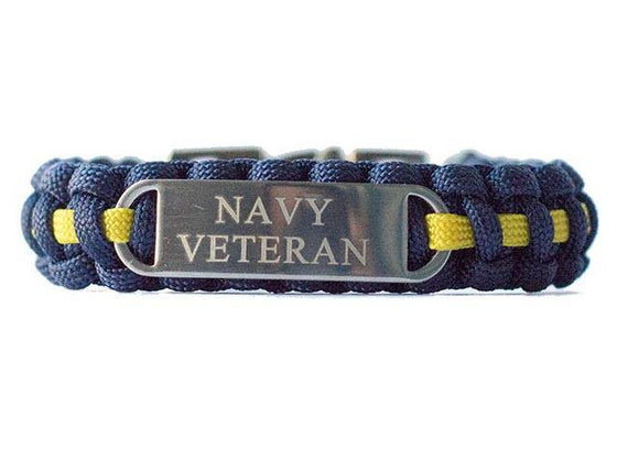 Engraved U.S. Navy Veteran Paracord Bracelet - Limited Stock Sale