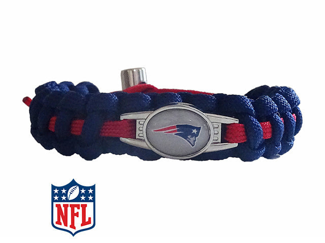 Officially Licensed NFL New England Patriots Paracord Bracelet