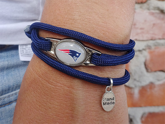 New England Patriots Officially Licensed Designer Wrap Bracelet
