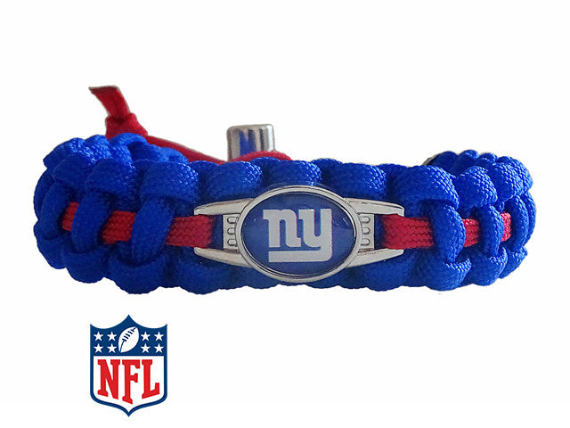 Officially Licensed NFL New York Giants Paracord Bracelet