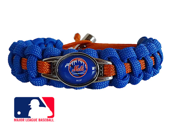 Officially Licensed MLB New York Mets Paracord Bracelet