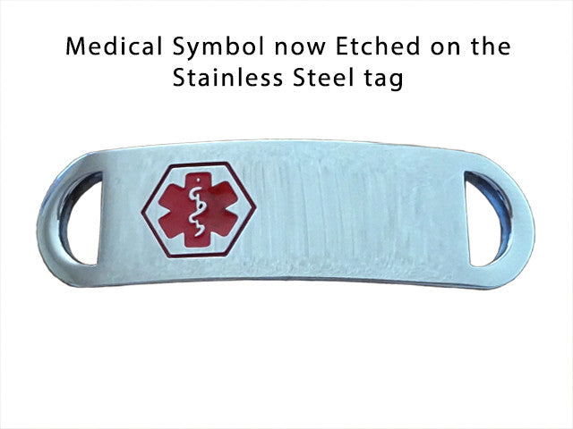 Engraved Stainless Steel Penicillin Allergy Medical ID Paracord Bracelet
