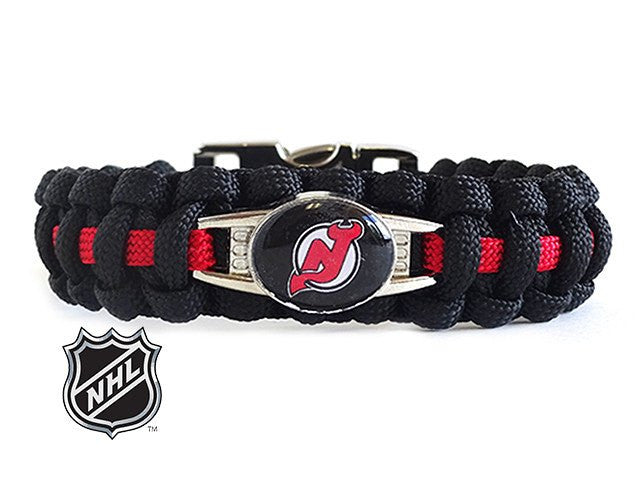 Officially Licensed NHL New Jersey Devils Paracord Bracelet