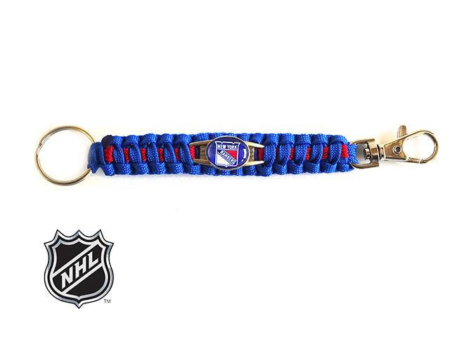 Officially Licensed NHL New York Rangers Paracord Keychain
