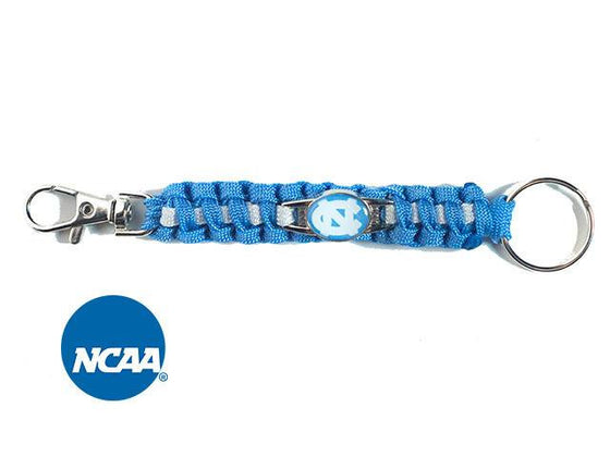Officially Licensed North Carolina Tar Heels Paracord Keychain