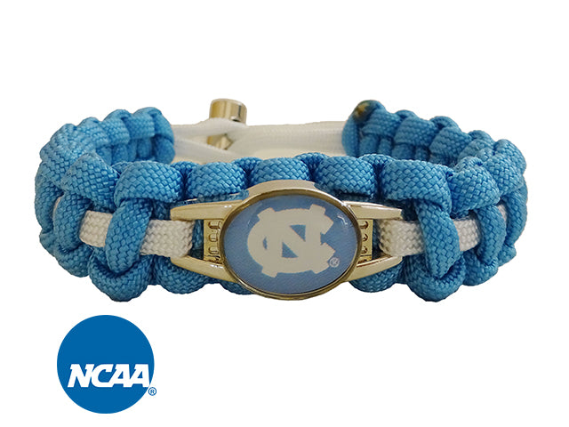 Officially Licensed North Carolina Tar Heels Paracord Bracelet