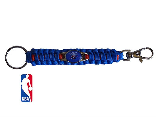 Officially Licensed NBA Oklahoma City Thunder Paracord Keychain