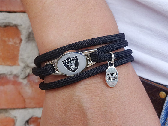 Oakland Raiders Officially Licensed Designer Wrap Bracelet