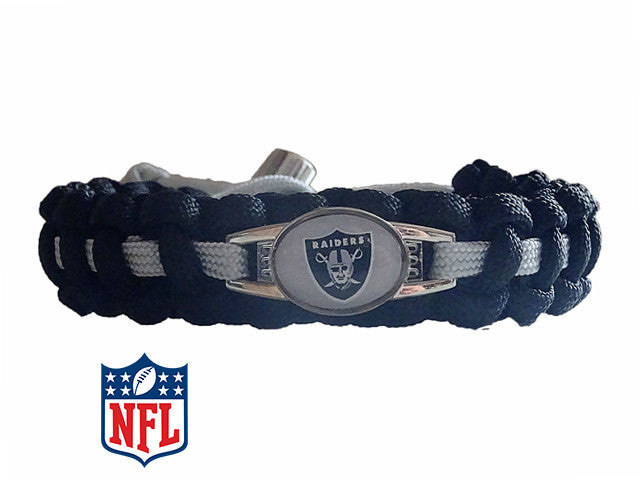 Officially Licensed NFL Oakland Raiders Paracord Bracelet