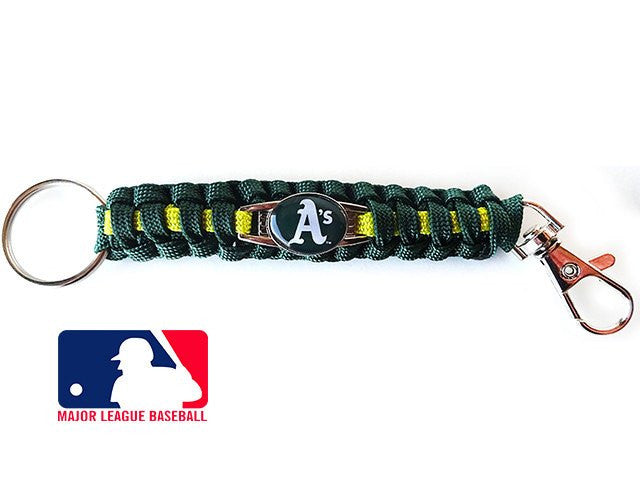 Officially Licensed MLB Oakland Athletics Paracord Keychain