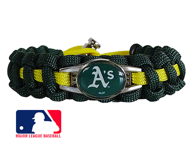 Officially Licensed MLB Oakland Athletics Paracord Bracelet