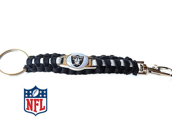 Oakland Raiders NFL Paracord Key Fob - 25% Off