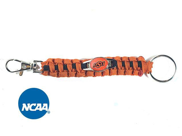 Officially Licensed Oklahoma State Cowboys Paracord Keychain