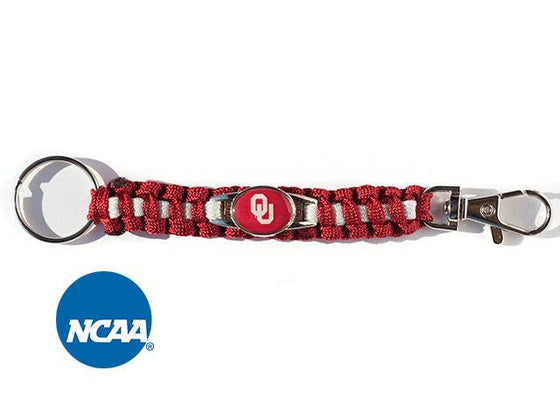 Officially Licensed Oklahoma Sooners Paracord Keychain