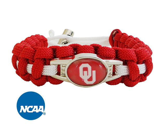 Officially Licensed Oklahoma Sooners Paracord Bracelet