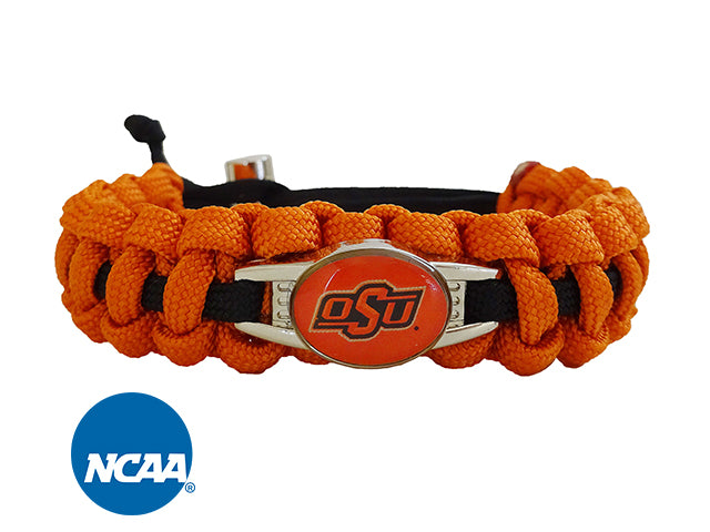 Officially Licensed  Oklahoma State Cowboys Paracord Bracelet
