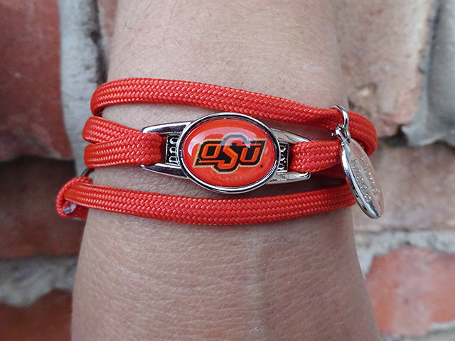 Oklahoma State Cowboys Officially Licensed Designer Wrap Bracelet