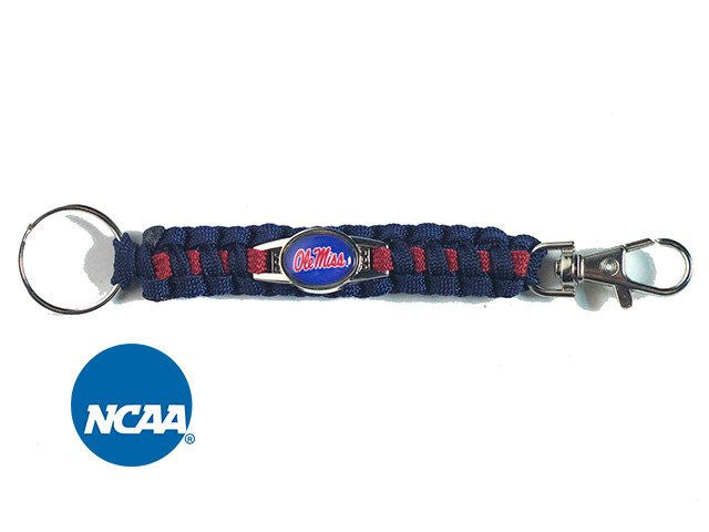 Officially Licensed Ole Miss Rebels Paracord Keychain