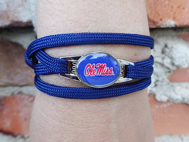 Ole Miss Rebels Officially Licensed Designer Wrap Bracelet