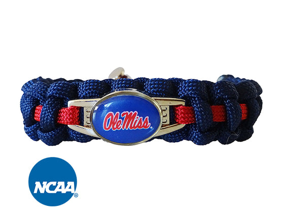 Officially Licensed Ole Miss Rebels Paracord Bracelet