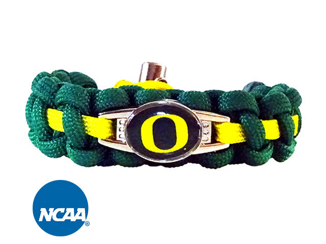 Officially Licensed Oregon Ducks Paracord Bracelet