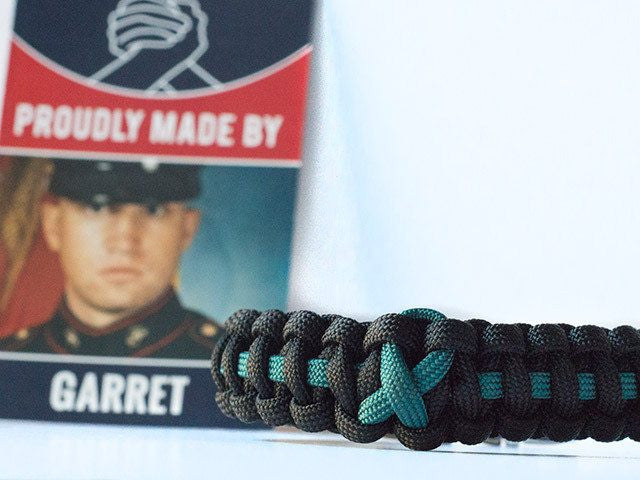 Ovarian Cancer Awareness Paracord Bracelet