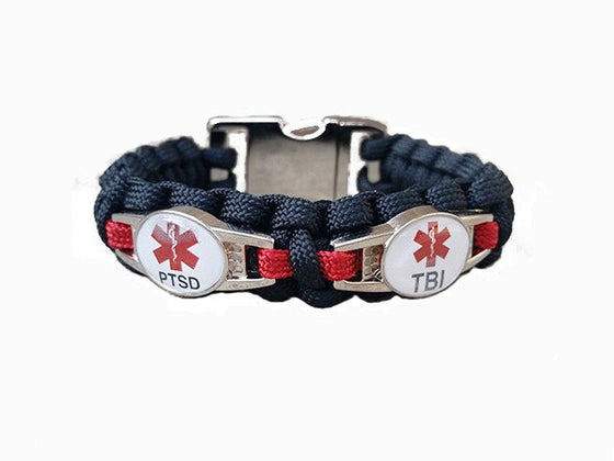 2-Charm Customizable Medical ID Paracord Bracelet