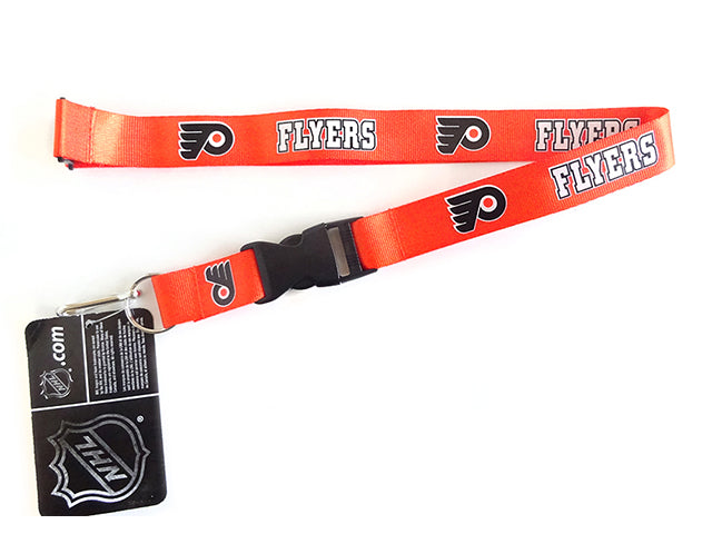 Officially Licensed NHL Philadelphia Flyers Lanyard with Paracord Badge Reel Attachment