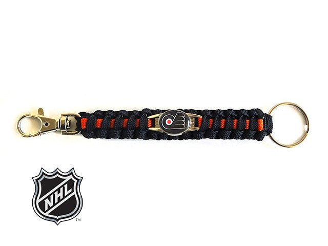 Officially Licensed NHL Philadelphia Flyers Paracord Keychain