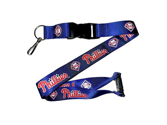 Officially Licensed MLB Philadelphia Phillies Lanyard with Paracord Badge Reel Attachment