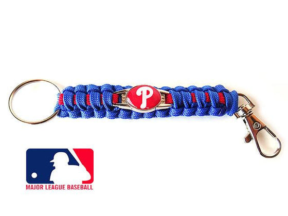 Offically Licensed MLB Philadelphia Phillies Paracord Key Fob