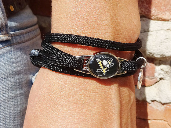 Pittsburgh Penguins Officially Licensed Designer Wrap Bracelet