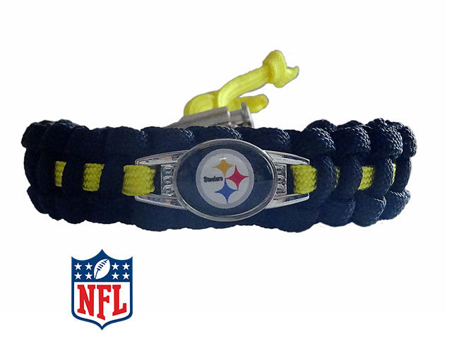 Officially Licensed NFL Pittsburgh Steelers Paracord Bracelet