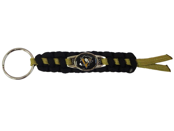 Officially Licensed Pittsburgh Penguins NHL Paracord Mini Keychain