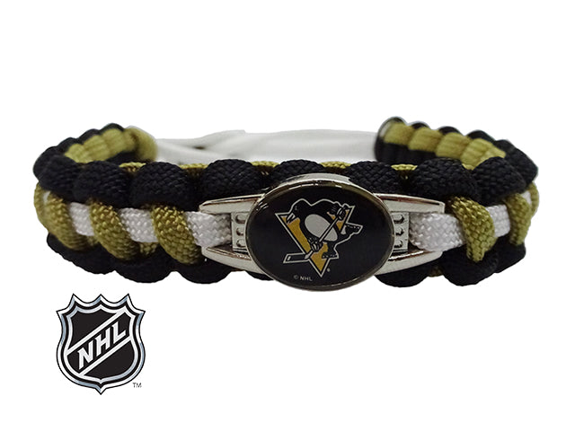 Officially Licensed NHL Pittsburgh Penguins Paracord Bracelet
