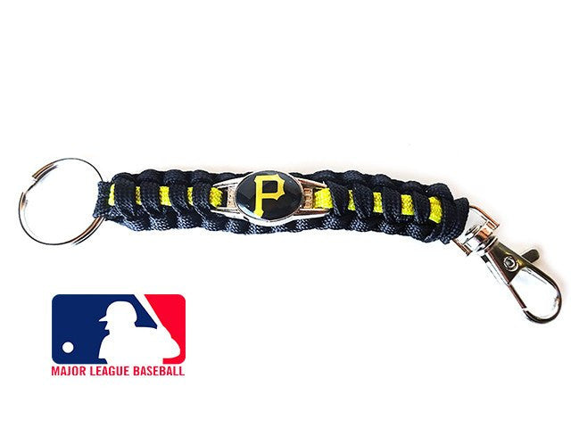 Officially Licensed MLB Pittsburgh Pirates Paracord Keychain