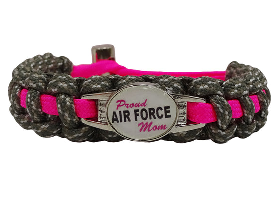 Proud Air Force Mom Paracord Bracelet