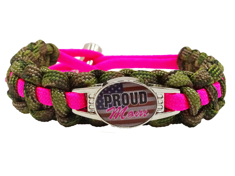 Proud Military Mom Paracord Bracelet