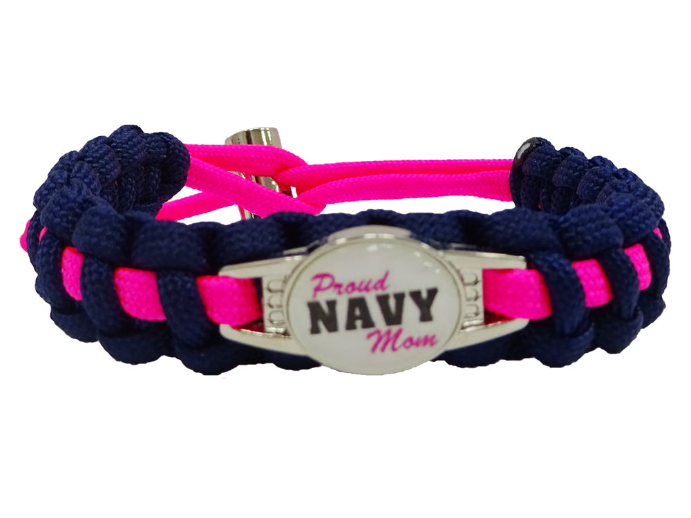 Proud Navy Mom Paracord Bracelet